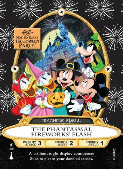 Mickey's Not So Scary Halloween Party Sorcerer's of the Magic Kingdom party card