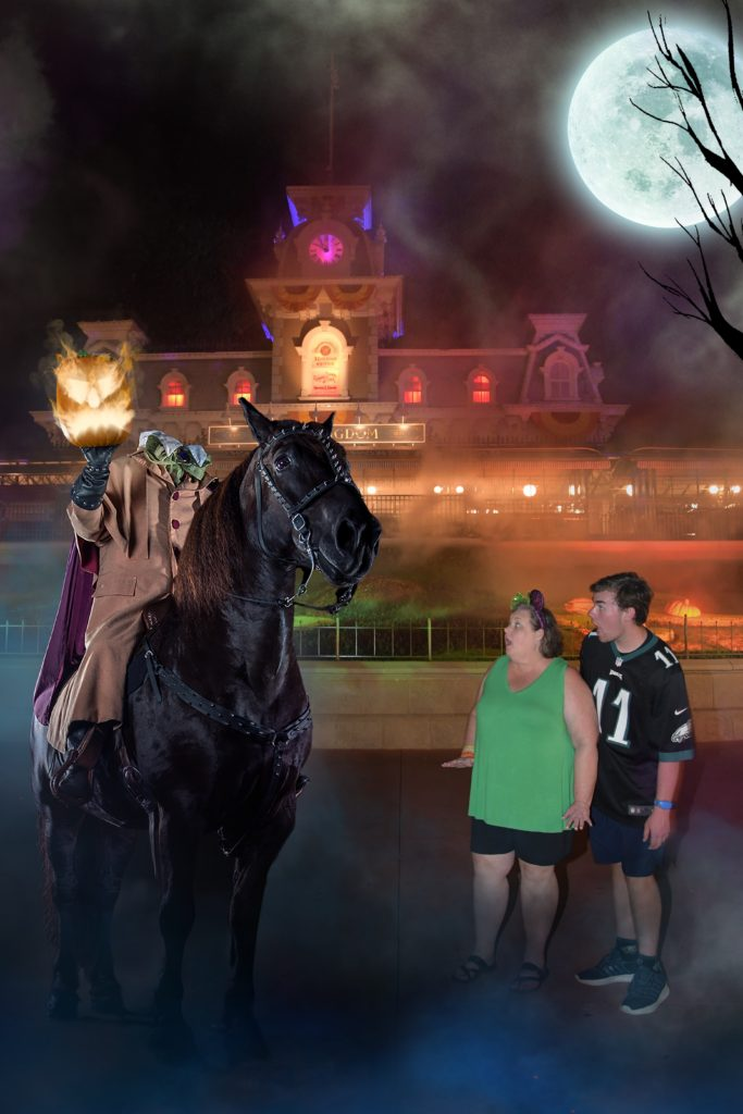 Mickey's Not So Scary Halloween Party Magic Shots: The grim grinning ghosts usually make an appearance, along with other favorites like the poisoned apple and the headless horseman.